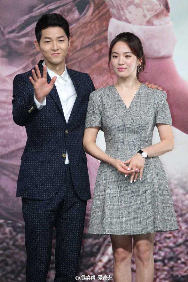 Song Jong Ki dan Song Hye Kyo Descendants of the Sun
