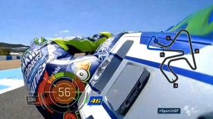 Sudut Kemiringan Hingga 56' Valentino Rossi