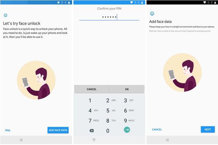 Cara Mengaktifkan Fitur Face Unlock Di OnePlus 5