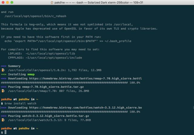 Menggunakan Homebrew Di MacOS