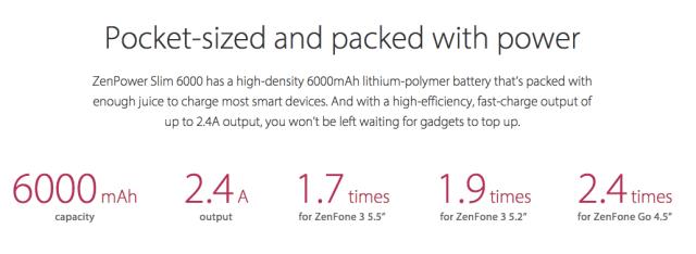 Spesifikasi Details ZenPower Slim 6000mAH