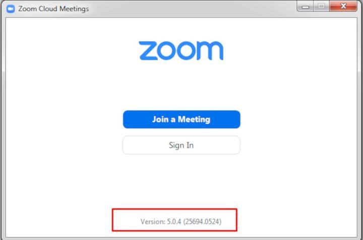 Mengetahui Versi Aplikasi Zoom