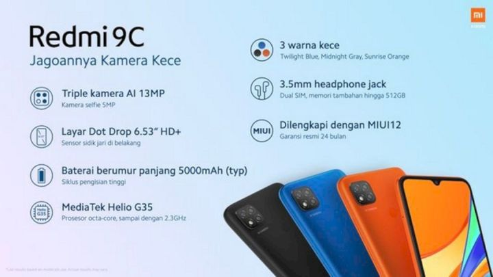 Spesifikasi Redmi 9C