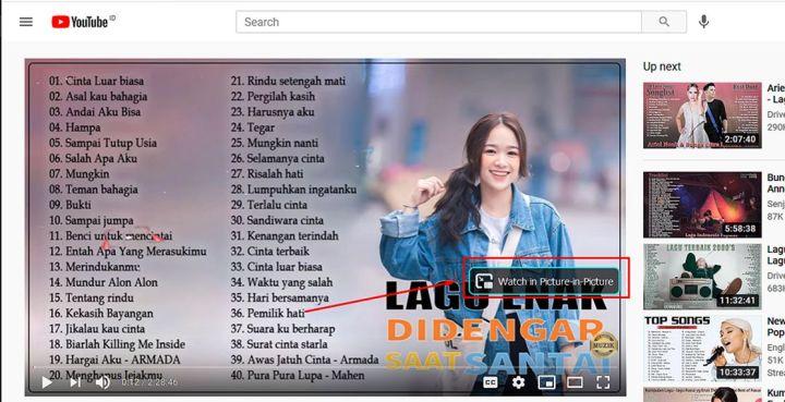 Mode PiP Di Saat Menonton Video