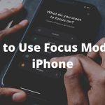 Focus Mode Pada IPhone