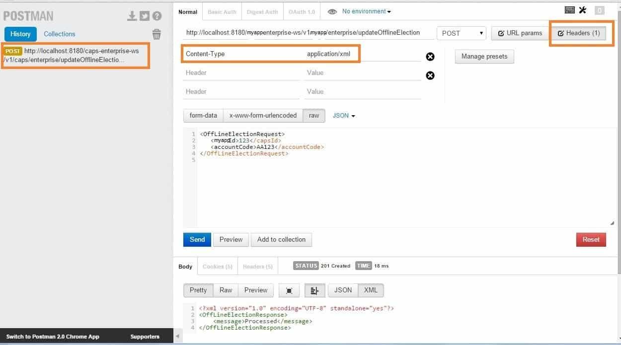 â chrome postman to test and debug restful web services java