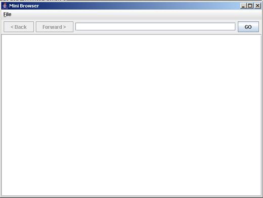 simple browser in Swing