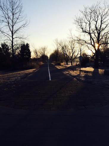trail sunrise