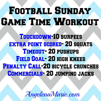 Football Sunday game time workout
