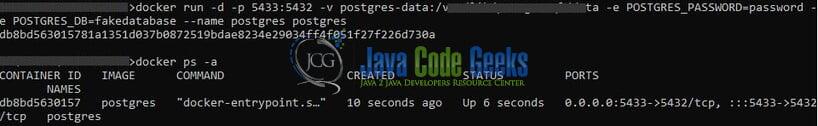 ORM in Node.js - server on docker