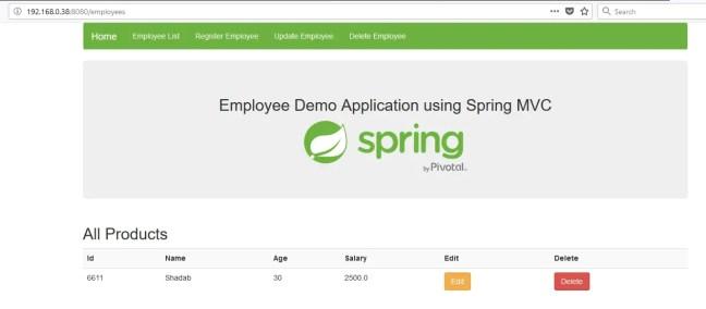 add employee spring mvc