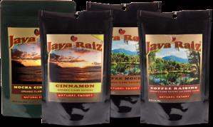 Java Raiz - Coffee, Cinnamon, and Cocoa Infused Organic Raisins