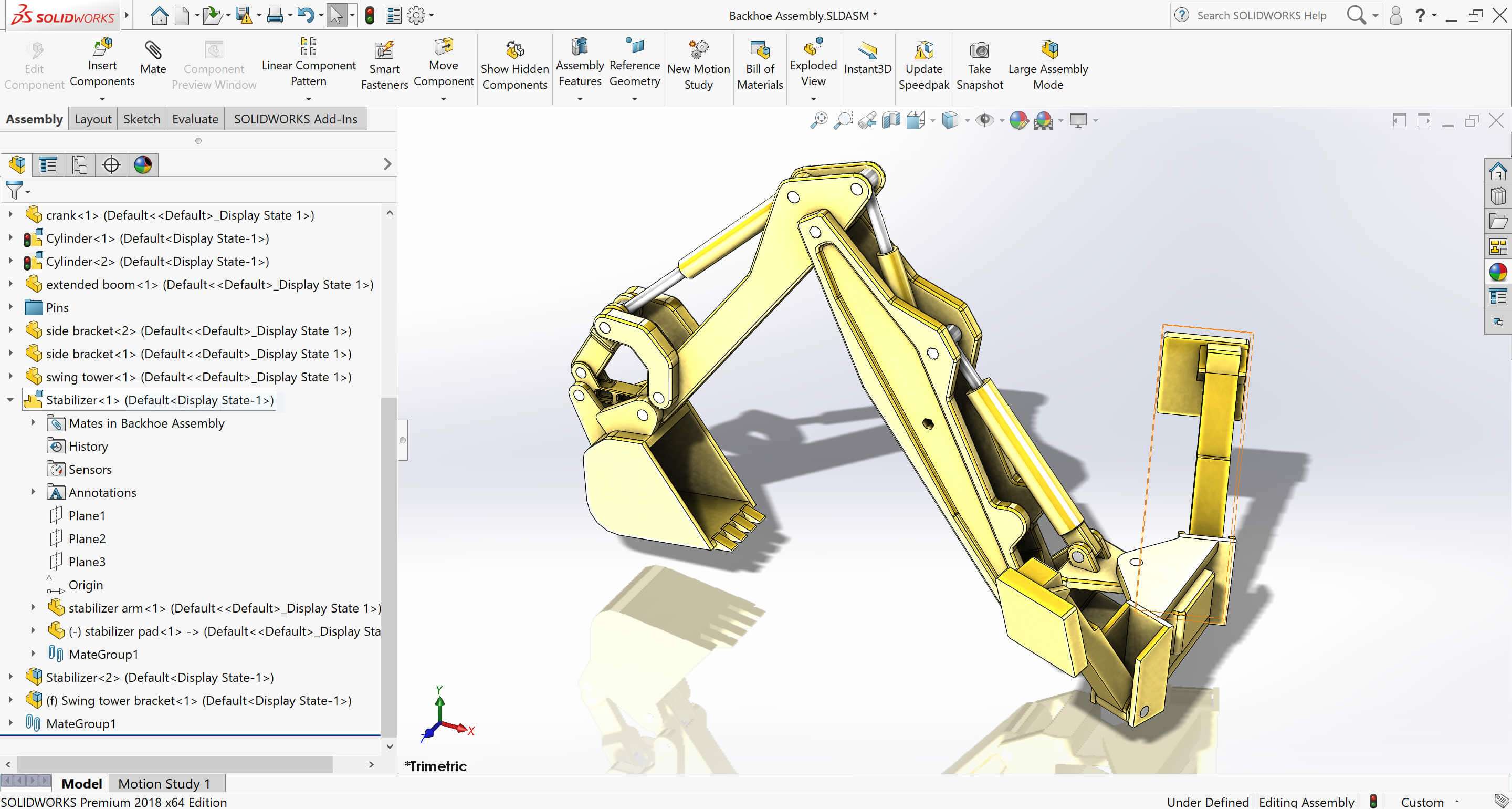 How To Mate A Moving Component Of A Solidworks Rigid Sub