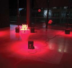 Cuervo montó su composición sonora en el evento Artistas al Tablero.