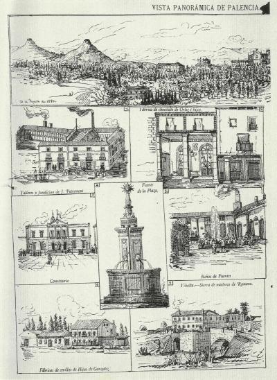 Palencia en 1880