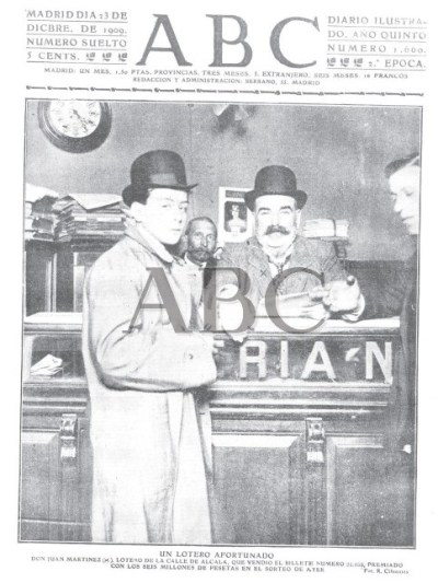 loteria de navidad 1909