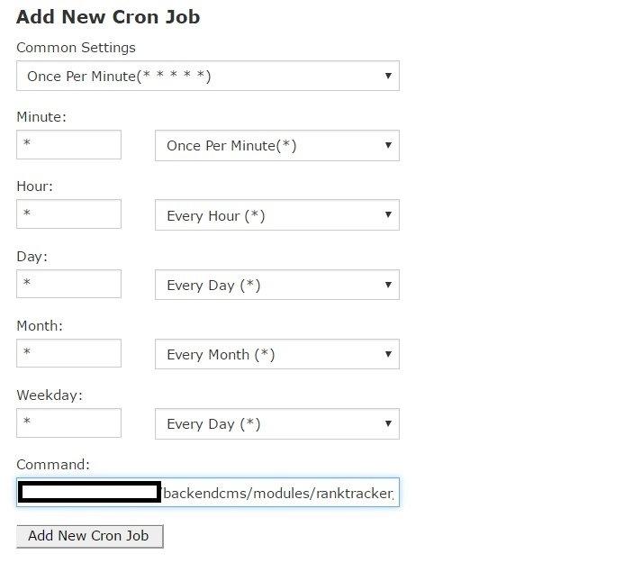 Crear nuevo cron