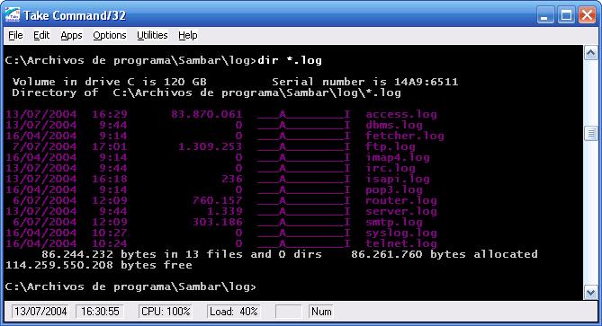 Logs del servidor web