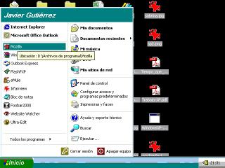 Configuración de pantalla curiosa en XP