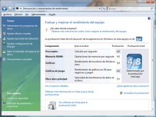 Rendimiento de Vista en x64
