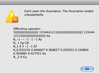 Adobe dice: Offending operator
