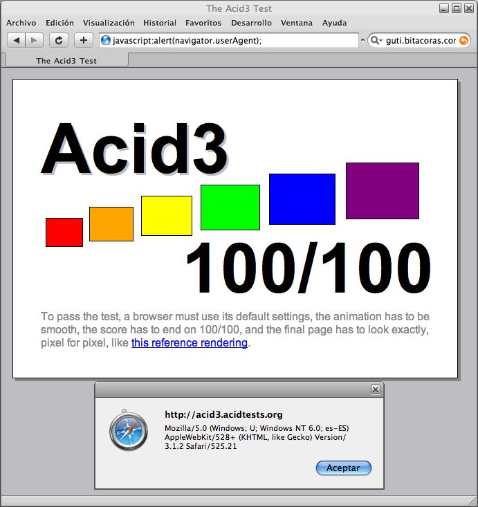 100/100 en Acid3