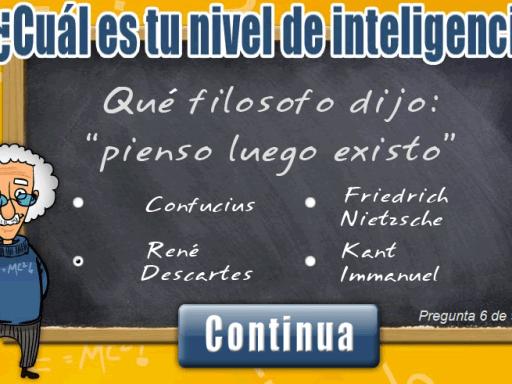 ¿Cuál es tu nivel de inteligencia?