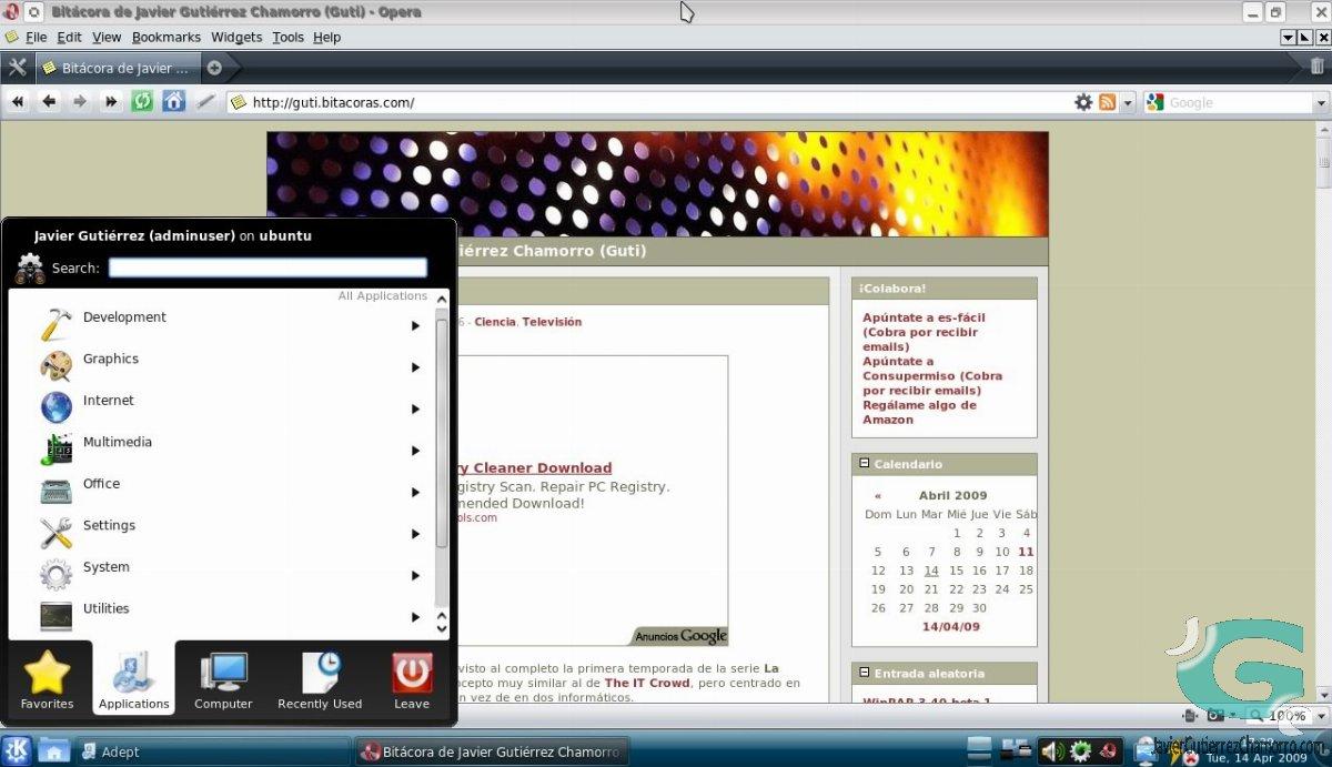 Un mes con Kubuntu 9.04