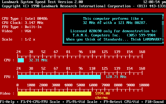 Landmark System Speed Test