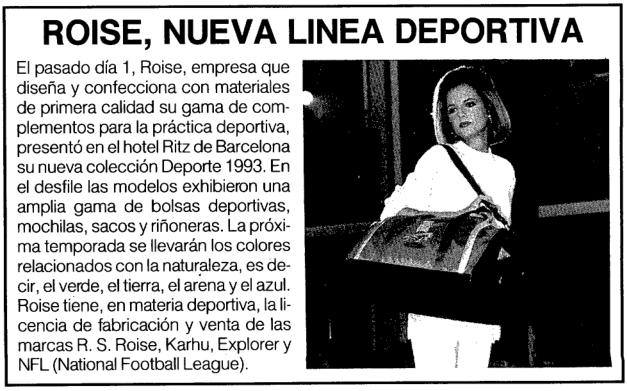 RS Roise, ¿la recuerdas?