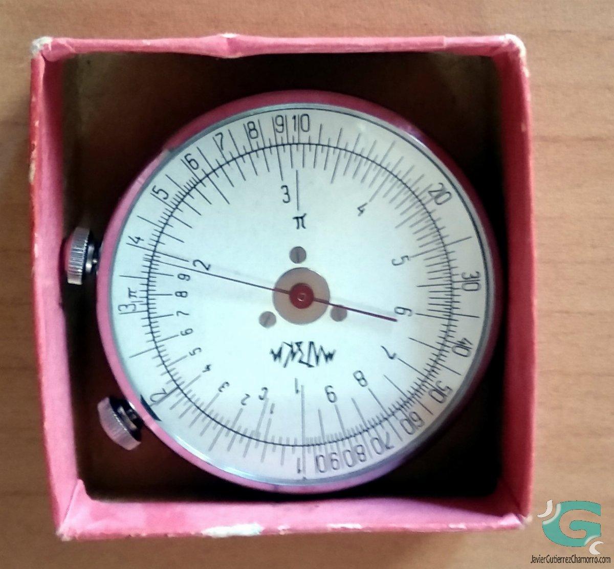 Regla de cálculo circular Kontrolpribor KL-1