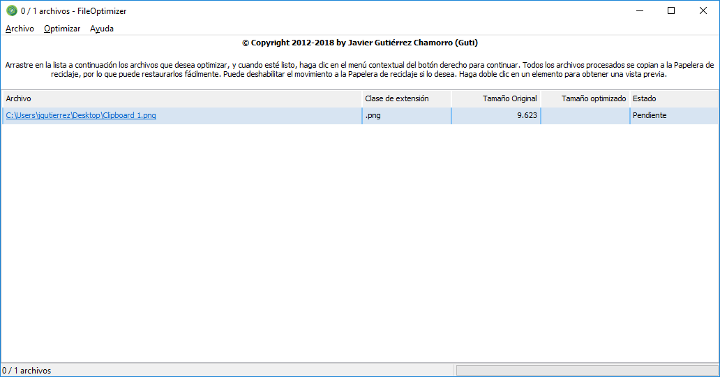 FileOptimizer en español (¿Cómo se hizo?)