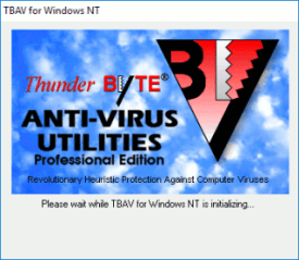 ThunderBYTE Antivirus para Windows NT