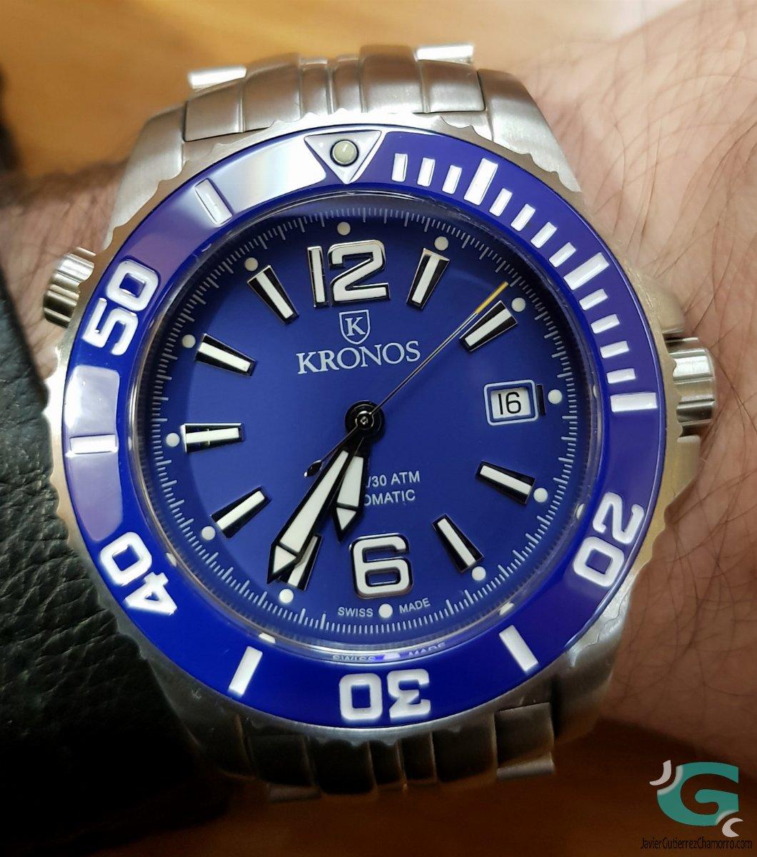 2a589235bf93 Kronos K300 Automatic Blue