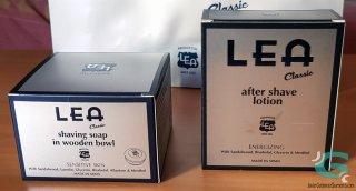 Jabón de afeitar y aftershave loción LEA Classic