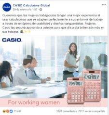 El apoyo a las mujeres de CASIO