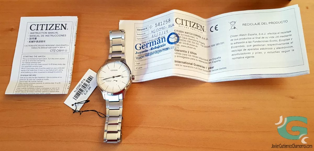 Citizen NJ0090-81A Super Titanium