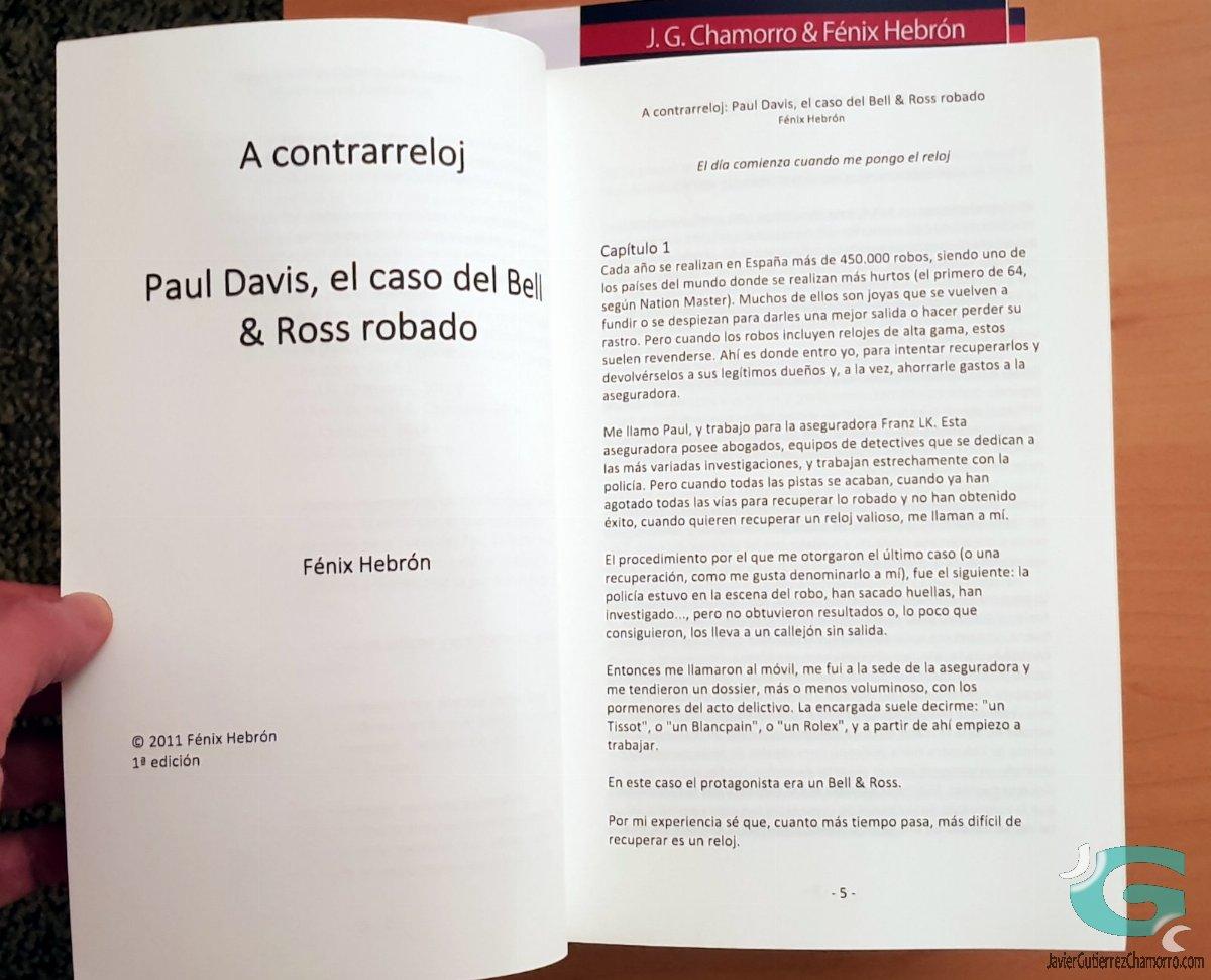 A contrarreloj: Paul Davis, primera temporada. Edición en papel