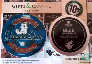 Jabón de afeitar Epsilon Blue Mediterranean y crema Dapper Dan