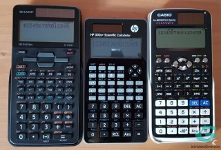 Sharp W506T vs HP 300s+ vs Casio fx-991SPX