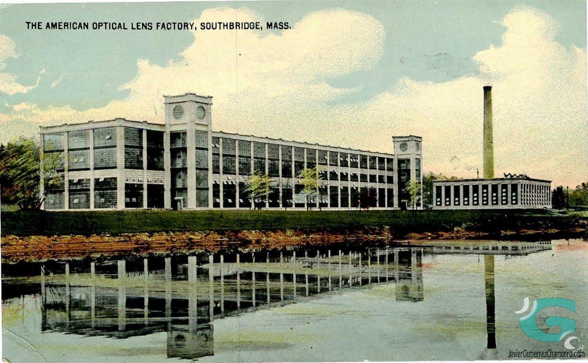 Fábrica de lentes de American Optical Company - 1915