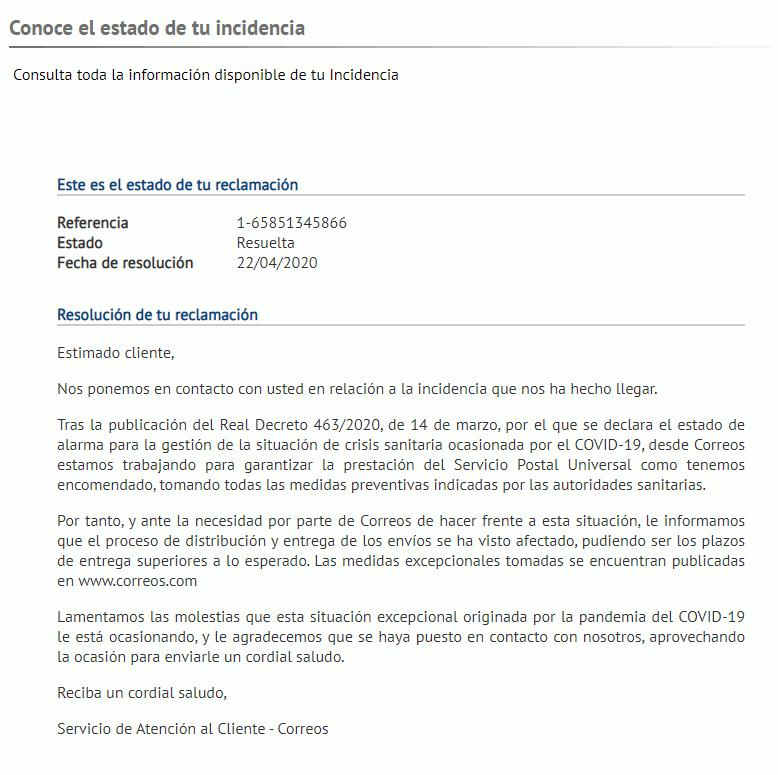 Correos de España estaba al tanto del COVID antes de que llegara a España