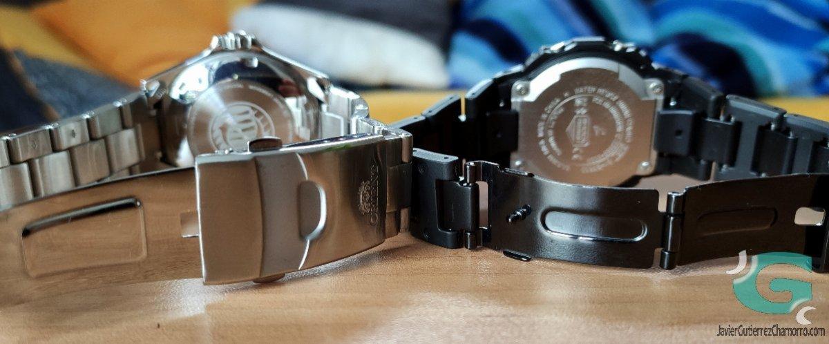 Comparativa Casio G-Shock GW-B5600 contra Orient Kamasu. Relojes japoneses