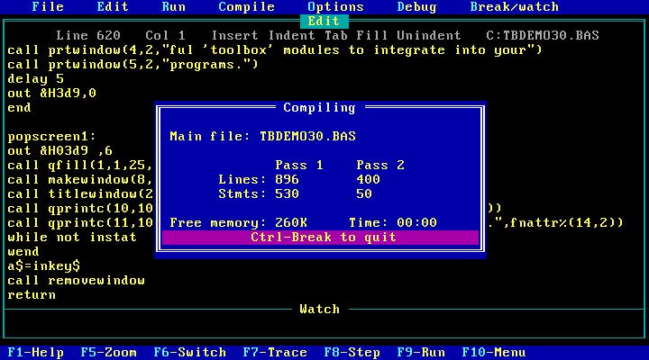 El misterio con Borland Turbo BASIC 2.1
