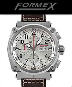 Formex Pilot Watch Automatic Chronograph Silver