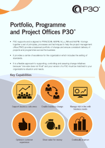 Curso Oficial Certificación P3O® Portfolio, Program & Project Offices con Javier Peris