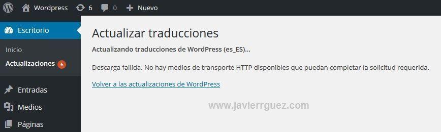 Descarga fallida No hay medios de transporte HTTP disponibles 02