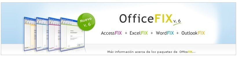 Reparar archivos Excel
