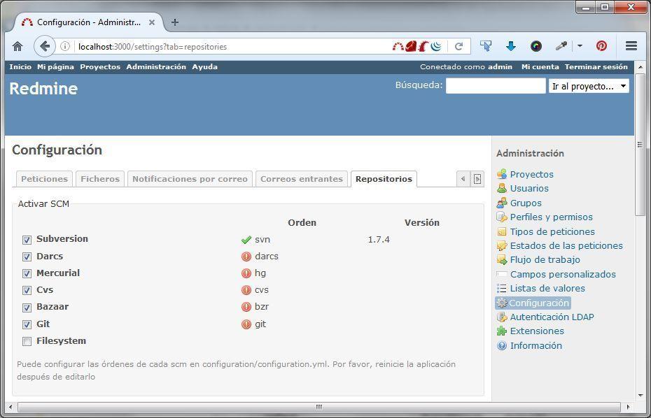 redmine-configurar-repositorio-svn-administracion
