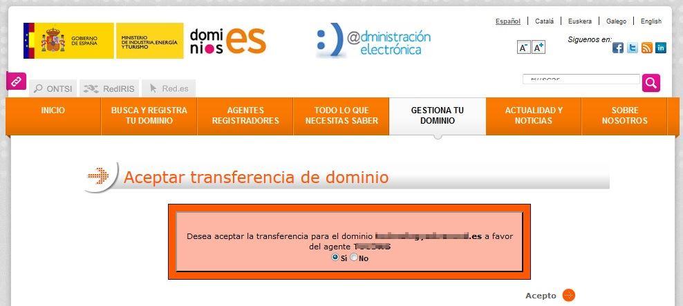 Siteground Transferencia de Dominio 02